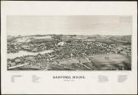 Bird's-eye view of Sanford, 1889