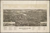 Bird's-eye view of Skowhegan, 1892