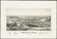 Bird's-eye view of Springvale, 1888