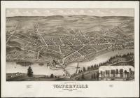 Bird's-eye view of Waterville, 1878