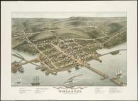 Bird's-eye view of Wiscasset, 1878