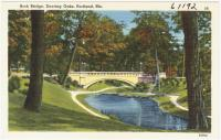 Arch bridge at Deering Oaks Park, Portland, ca. 1938