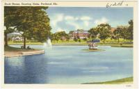 Duck House at Deering Oaks Park, Portland, ca. 1938