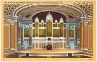 The Herman Kotzschmar Memorial Organ, Portland, ca. 1928