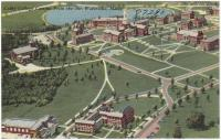 Aerial view of Colby College, Waterville, ca. 1950