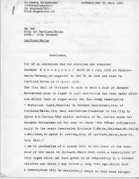 Letter to City from Dr. Georg Kotzschmar