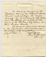 Thank you note for Shepley donation, New Orleans, 1862