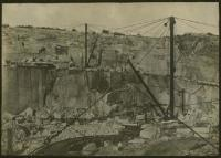 Baird's Quarry with crane, Swan's Island, ca. 1900