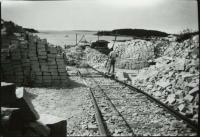 Quarry rail, Swan's Island, ca. 1900