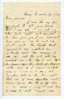 Charles Cole letter to his family, 1862