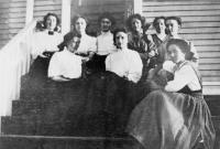 Edna St. Vincent Millay and high school friends, Camden, 1909