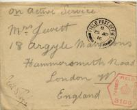 Envelope of World War I letter