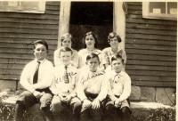 Dunkertown School, South Otisfield, ca. 1924