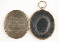 Locket of George Washington's hair, ca. 1850