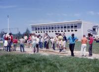 Contentious weathervane at Claude L. Bonsey School, Surry, 1963