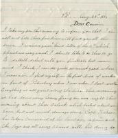 Walter Rounds Letter regarding gunfire, 1864