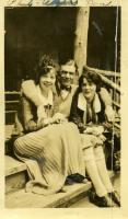 Farmington State Normal School Students at rustic camp, ca. 1925