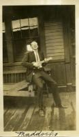 Ukelele Player, Wilton Railroad Station, ca. 1928
