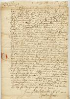 Letter concerning military provisions and garrison contingents, Kittery, 1695
