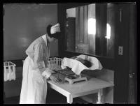 Nursing newborns, Maine General Hospital, Portland, 1926