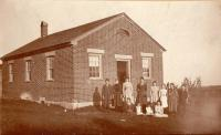Bell Hill School, Otisfield, about 1899