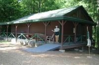 Museum cabin at Camp Winnebago
