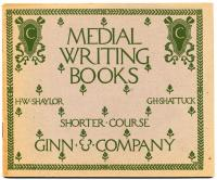 'Medial Writing Book' cover, 1903