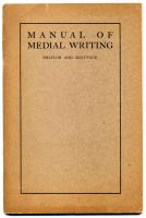 'Manual of Medial Writing,' 1904
