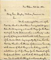 Letter concerning Prayer for the President, New Orleans, 1862