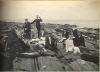 Two Lights picnic, Cape Elizabeth, 1927
