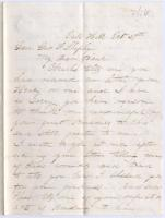 Annie Thornton to Gen. George F. Shepley, Scarborough, 1862