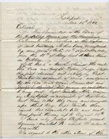 Capt. Appleton report on claim against U.S., Louisiana, 1862