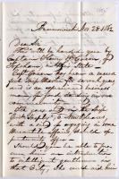 Letter introducing ship merchant to Gen. Shepley, 1862