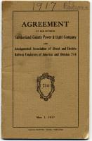 Electric workers labor agreement, Portland, 1917