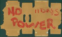 'No power' sign, 1998