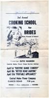 Cooking school poster proof, 1964
