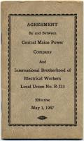 CMP, IBEW labor agreement, 1947