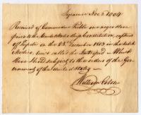 Slave receipt, 1803