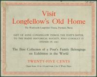 Wadsworth-Longfellow house broadside, ca. 1901