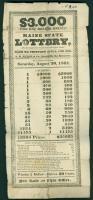 Maine State Lottery broadside, 1831