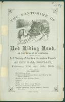 'Red Riding Hood' morality tale, Portland, 1868