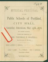 School music festival program, Portland, 1878