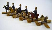 Expandable wooden toy, ca. 1900