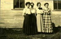 School teachers, Limestone, ca. 1909