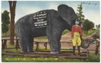 Perry's Nut House elephant, Belfast, ca. 1938