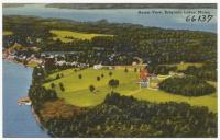 Aerial view, Belgrade Lakes, ca. 1938