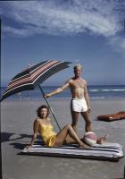 Beach-goers, Ogunquit, ca. 1955