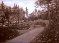 Bubble Pond stone bridge, Bar Harbor, ca. 1940