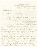 Telegram on Union movement toward Vicksburg, 1863