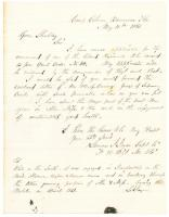 Laurens Joyce request for troop command, Florida, 1863